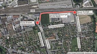 Soll für Entlastung sorgen: Die neue Verbindungs-Strasse Buchs Nord.