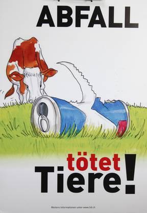 Die Plakate hingen bis zu 2 Wochen an einem Ort, um die Bevölkerung auf das Problem aufmerksam zu machen.