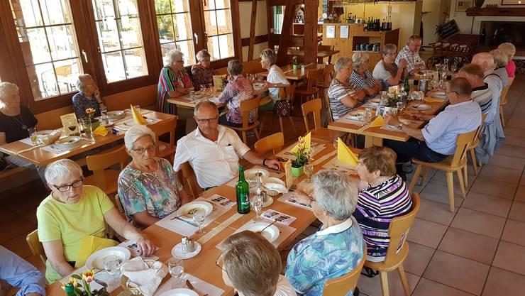 Mittagessen bei der Familie Keller in Hallau SH.