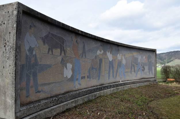 Angefertigt wurde das Wandbild vom Artillerie-Gefreiten und Kunstmaler Ernst Leu aus Kölliken