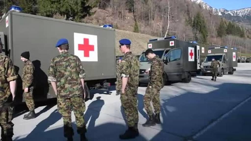 Mobilisierung in Ambri (TI)