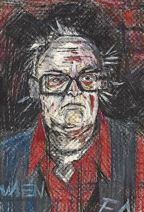 Wie Friedrich Dürrenmatt sich selber sah: Selbstporträt von 1978.