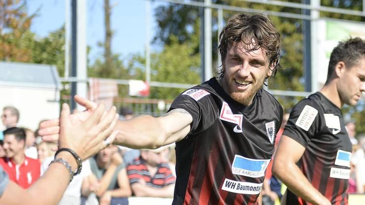 Einziger Aarauer Torschütze: Geoffrey Treands Treffer hätte dem FC Aarau beinahe den Sieg eingebracht.