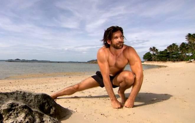 Tobias Rentsch am Strand.