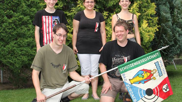 Die 3 Teilnehmer am Eidgenössischen in Glarus und die Leiter