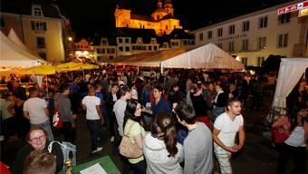Das grosse Stadtfest naht – und mit ihm viel feier- und genussfreudiges Volk, so wie hier im 2014.Archiv/Hanspeter Bärtschi