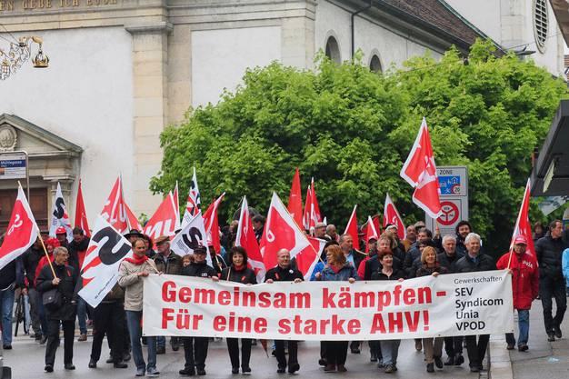 Prominente SP-Aushängeschilder wie Nationalrätin Bea Heim oder Regierungsrat Peter Gomm marschierten ebenfalls mit.