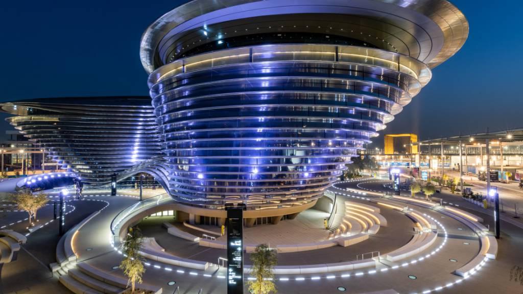 HANDOUT - Als erster arabischer Gastgeber lädt Dubai im Oktober zur Expo. Foto: Suneesh Sudhakaran/-/dpa - ACHTUNG: Nur zur redaktionellen Verwendung im Zusammenhang mit der aktuellen Berichterstattung über die Expo 2020 in Dubai und nur mit vollständiger Nennung des vorstehenden Credits