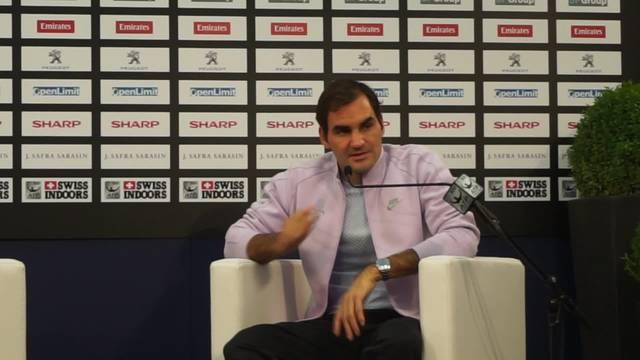 Roger Federer über Seitenwechsel in Basel