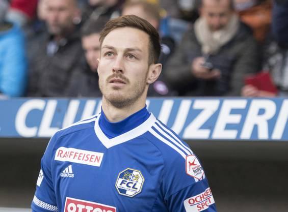 François Affolter, hier im Trikot des FC Luzern, spielt derzeit beim FC Aarau vor