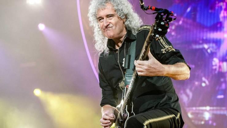 Eine Engelsgestalt ist wütend: Queen-Gitarrist Brian May leidet seit Jahren unter dem Baulärm in seinem Wohnquartier. (Archiv)