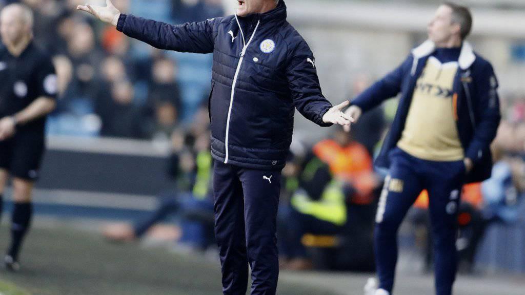 Leicesters Trainer Claudio Ranieri muss seine Mannschaft wieder auf Kurs bringen