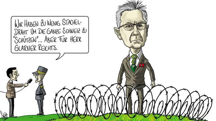 Andreas Glarner will, dass die Schweiz ihre grüne Grenze mit einem Stacheldrahtzaun abriegelt.