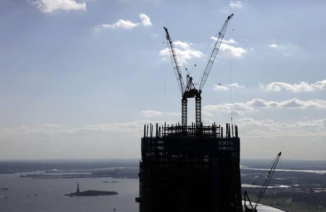 Arbeiten am One World Trade Center (Stand August 2011)