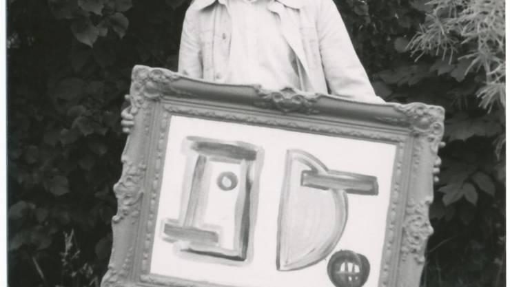 Kunstmaler, Kunstgestalter, Lebenskünstler: Gusti vo Huuse in den 80er-Jahren. (Archivbild)