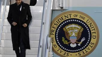 US-Präsident Obama bei seiner Ankunft in Südkorea