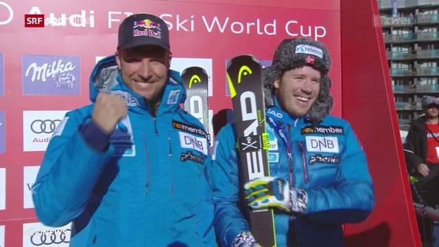 Schweizer Skifahrer geben Gas