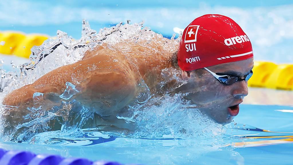 Pfeilschnell unterwegs: der Tessiner Schwimmer Noè Ponti.