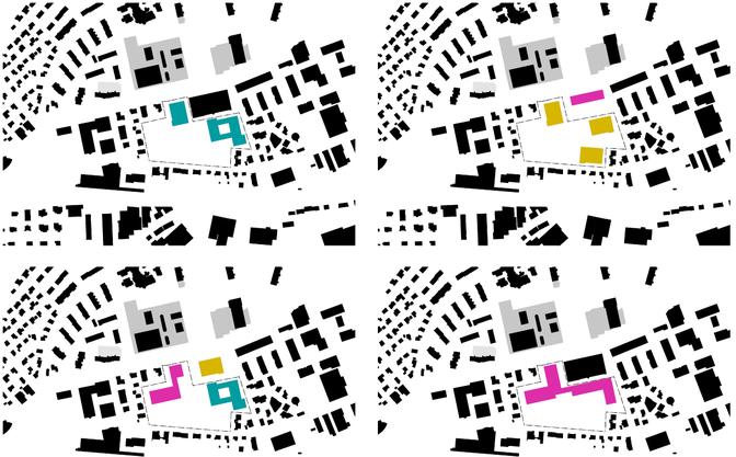 Mögliche Variationen und Kombinationen aus der Vogelperspektive.