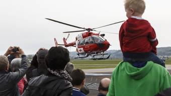 Das Heli Weekend 2015 in Grenchen zog viele Zuschauer an.