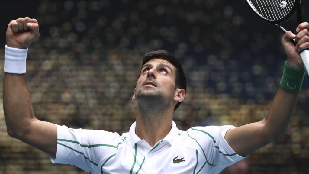 Novak Djokovic trotzte dem Wind und dem japanischen Gegner.