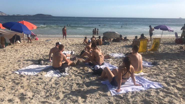 Der Strand von Ipanema befindet sich gleich hinter unserem Hotel.