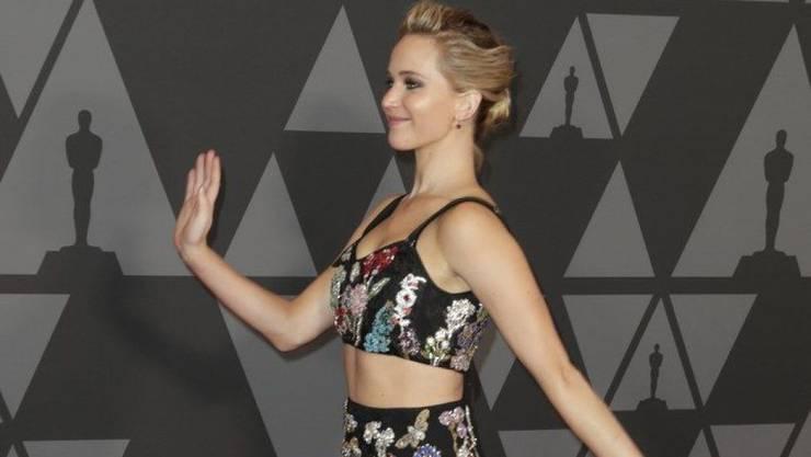 Wieder einer ihrer typischen Scherze? Jennifer Lawrence will sich angeblich auf eine Ziegenfarm zurückziehen. (Archivbild)