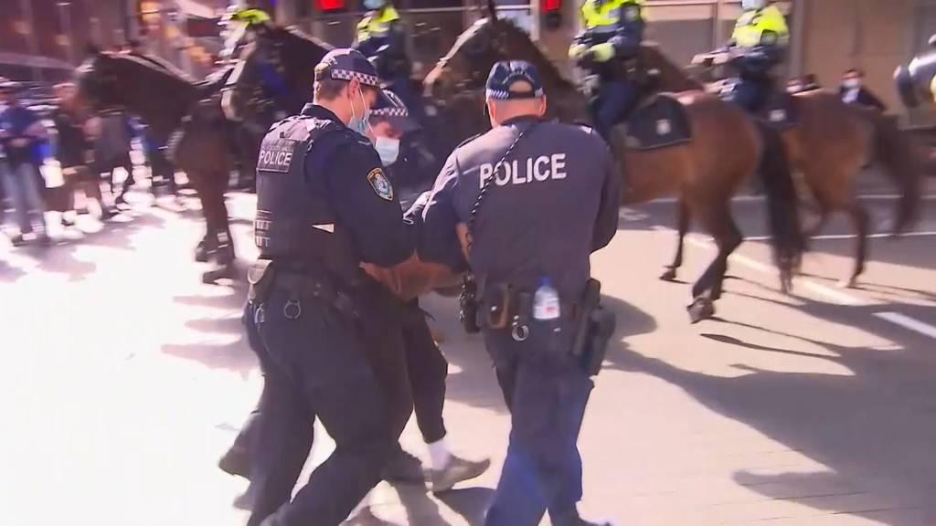 Tausende bei Anti-Lockdown-Protesten in Sydney