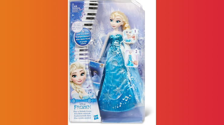 Wunsch-Nr. 96, Maryam, 9 Jahre, Hasbro Frozen Musical Dress Elsa, Migros, CHF 44.90