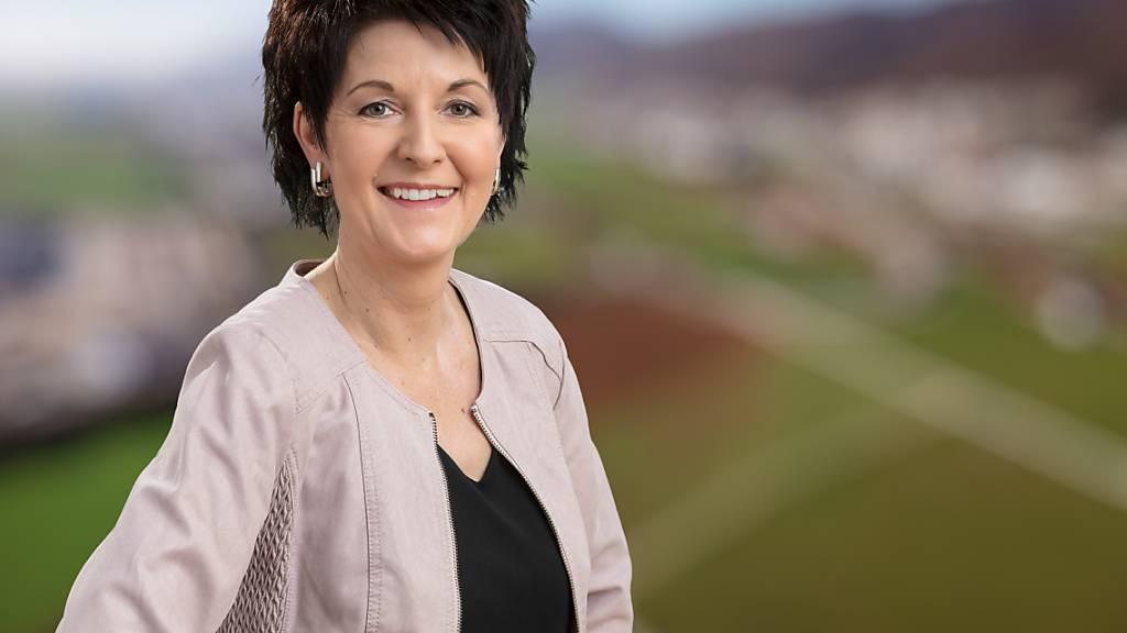 Die Favoritin in der Stichwahl für den Solothurner Regierungsrat: CVP-Präsidentin Sandra Kolly-Altermatt. Wird sie gewählt, so gehören dem Regierungsrat drei Frauen und zwei Männer an.