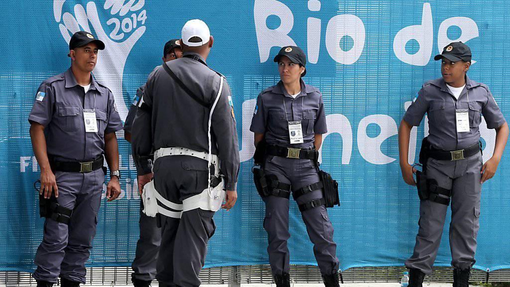 In Rio sollen doppelt so viele Sicherheitsleute im Einsatz stehen wie 2012 in London