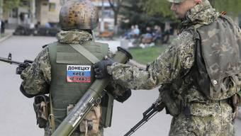 Prorussische Milizionäre in Slawjansk (Archiv)