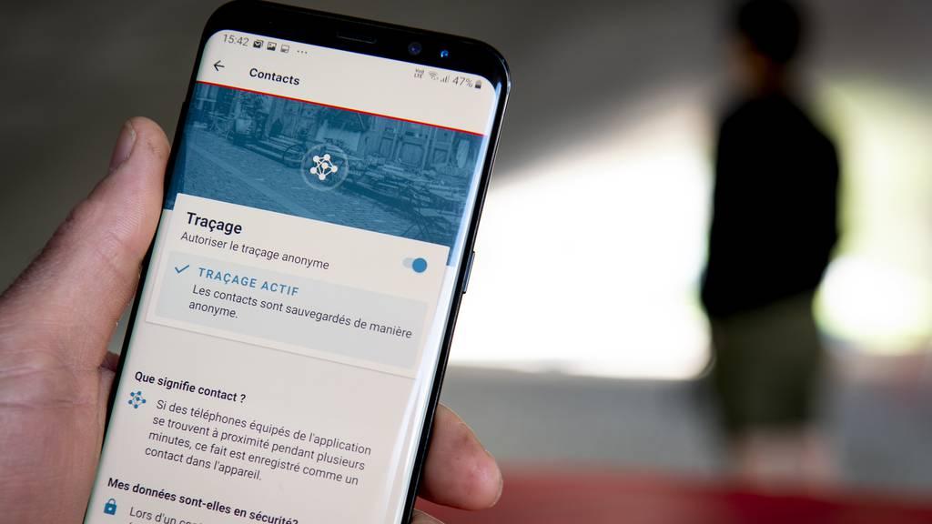 Die SwissCovid-App hat eine Million aktive Nutzer.
