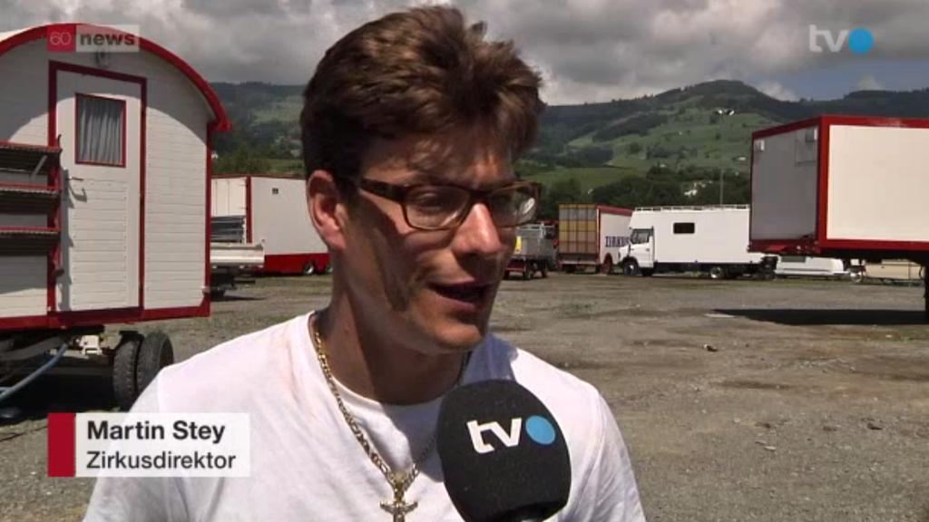 Martin Stey ist beruhigt, dass sein Zirkus nach Oberriet hat umziehen dürfen.