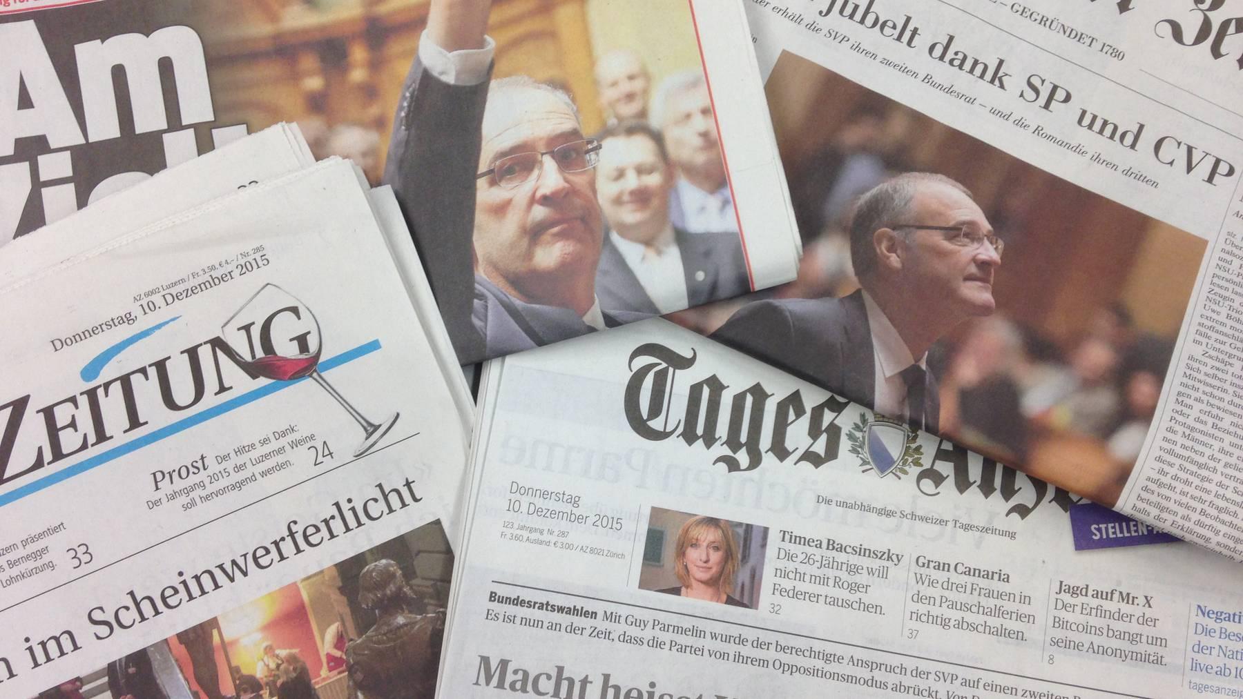 Die Zeitungen zur Bundesratswahl