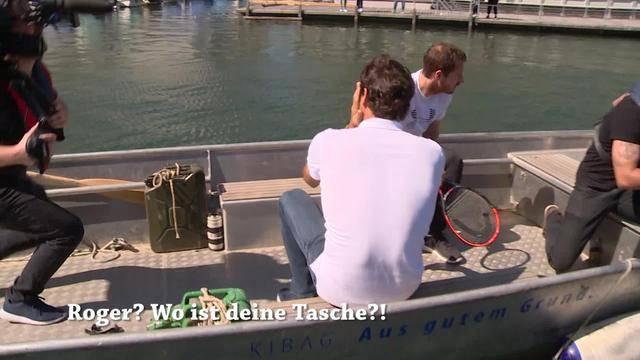 Gesucht: Federers Handy und Murrays Pass!