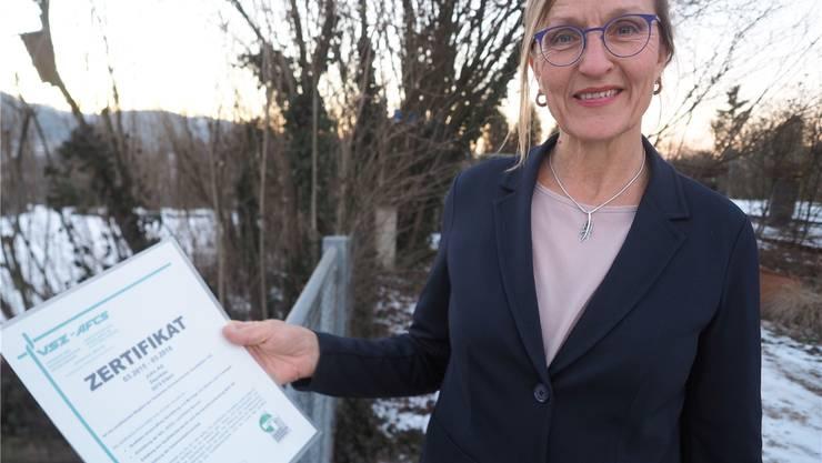 Theresa John von der John AG Zaunbau in Eiken leitet den Verband Schweizerischer Zaunfabriken. FAB