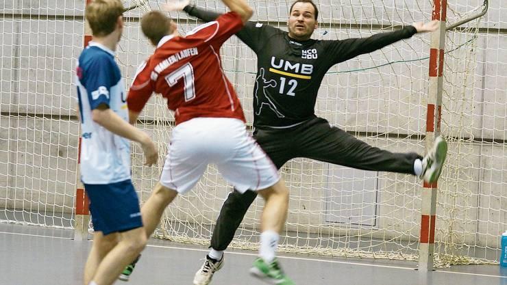 Als Spiele noch möglich waren: HC-Dietikon-Urdorf-Goalie Josip Katicic in Aktion.