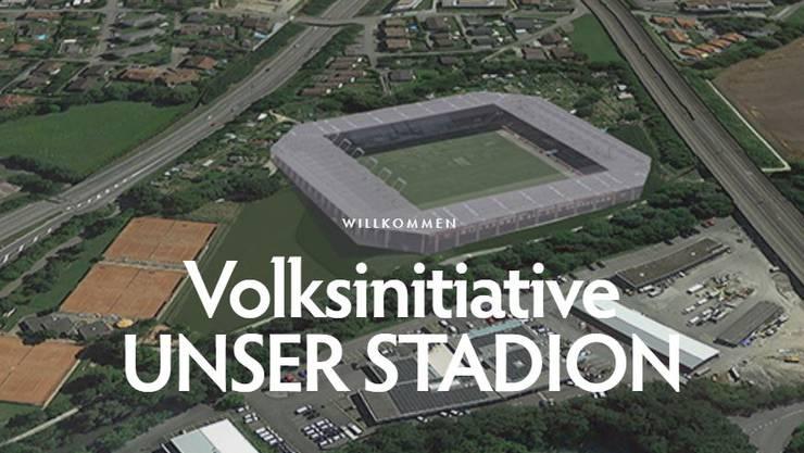 """Der Verein """"Unser Stadion"""" favorisiert für das neue Aarauer Fussballstadion den Standort Obermatte in Buchs."""