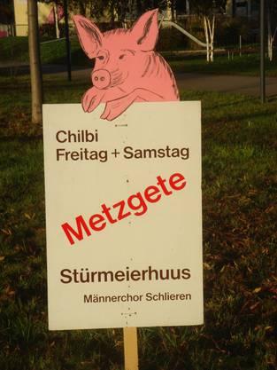 Seit 28 Jahren existiert diese Werbung, erstellt vom ehemaligen Sänger, Hansruedi Steiner