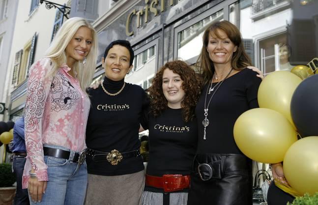 2008  feiern Christa Rigozzi, Daniela Jaeggi und ihre Tochter Cristina sowie Karina Berger den ersten Geburtstag der Boutique