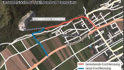 Erschliessung Steinbruch Vorberg