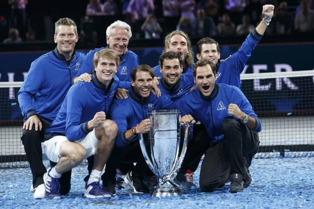 Das siegreiche Team Europe.