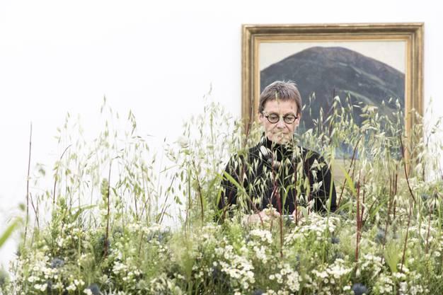 """Eröffnung der Ausstellung """"Blumen für Kunst"""" am 5. März 2018 im Aargauer Kunsthaus in Aarau."""