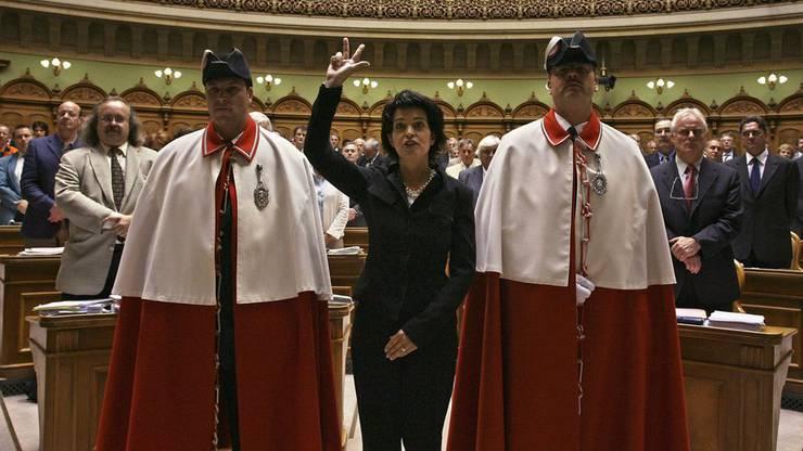 Sie wurde 2006 mit 133 von 234 gültigen Stimmen gewählt.