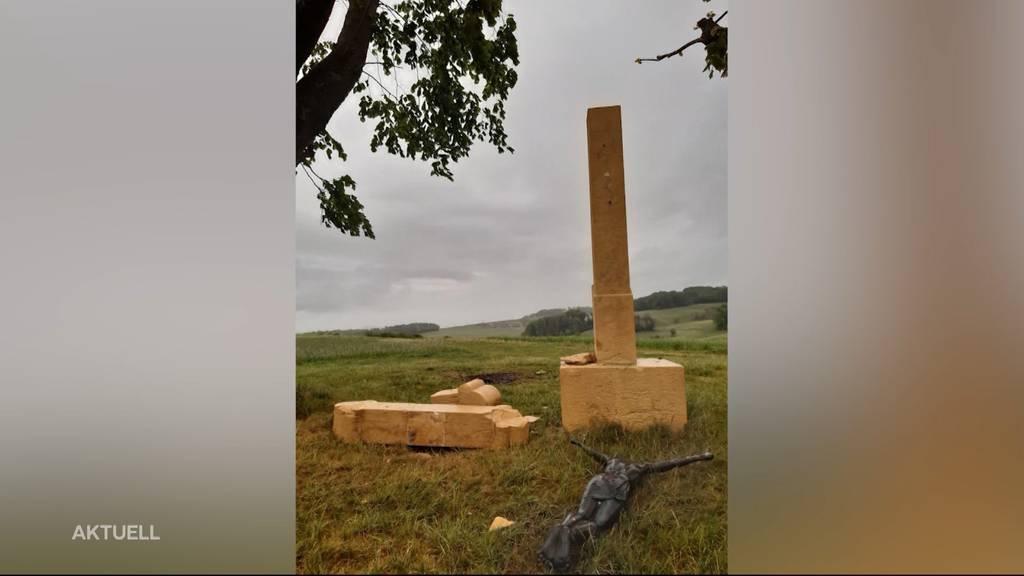 150-jähriges Feldkreuz in Wölflinswil zerstört