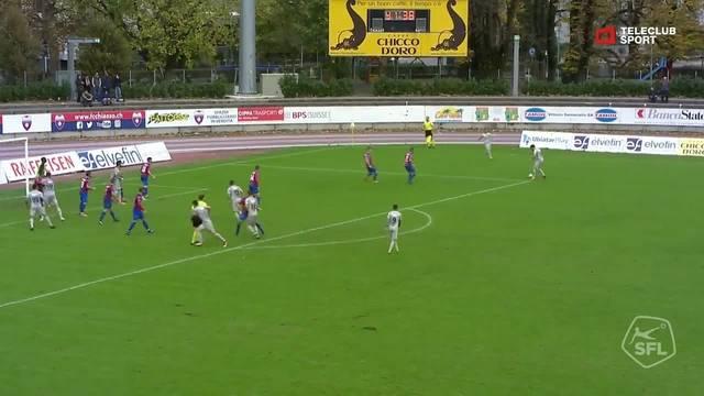 FC Chiasso - FC Aarau: 87. Minute, Elsad Zverotic, 2:2