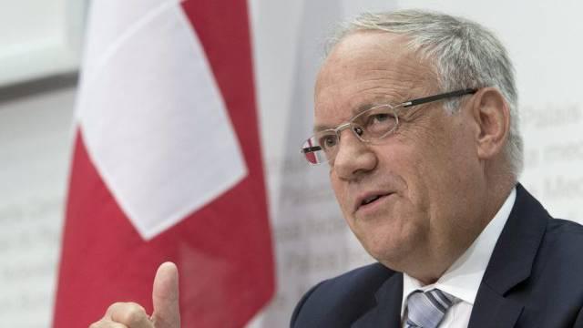 Bundesrat Johann Schneider-Ammann am Donnerstag vor den Medien