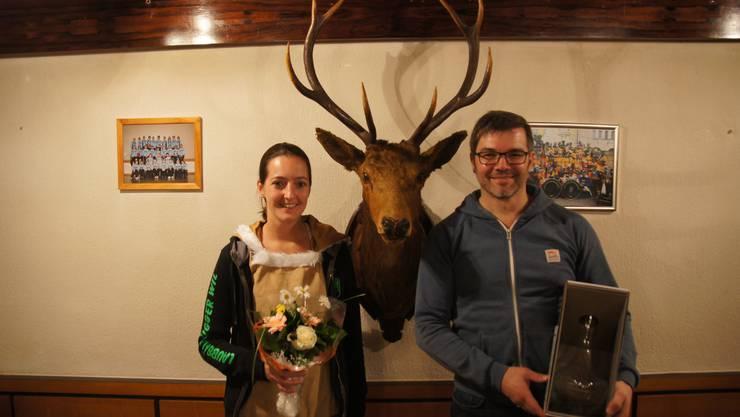 Die neuen Ehrenmitglieder; Yvonne Merkofer und Beni Wehrli