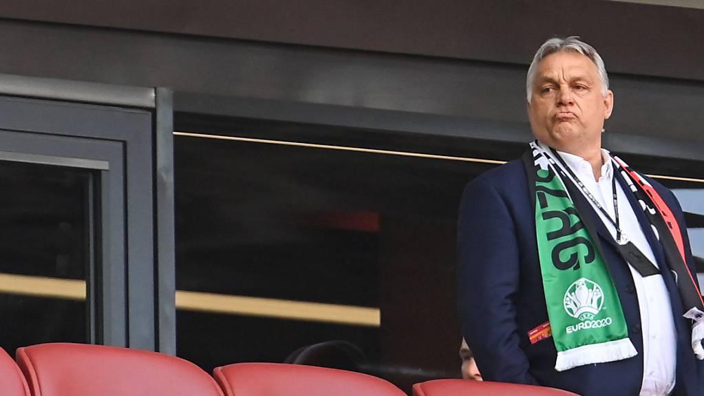 ARCHIV - Viktor Orban hat seine Reise nach München zum Fußballspiel Ungarn gegen Deutschland abgesagt. Foto: Robert Michael/dpa-Zentralbild/dpa Foto: Robert Michael/dpa-Zentralbild/dpa